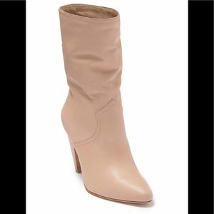 BNIB Joie Gabbissy Slouchy Leather Boot In Blush